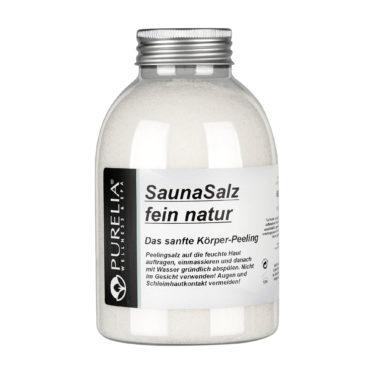 Purelia Sauna Peeling Salz fein natur